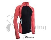 ES Melange Ultra lightweight long sleeve top Coral