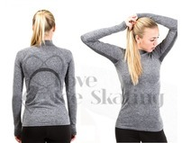 JIV SH1 Figure Skating Training Top Grey Melange