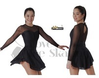 Intermezzo Black & Mesh Ice Skating Dress