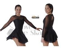 Intermezzo Black & Mesh Ice Skating Dress