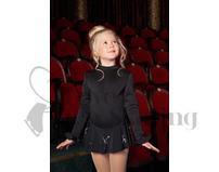 JIV Girls Black Thermal Ice Skating Dress