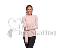 Chic Ice Skating Jacket in Pastel Pink by JIV