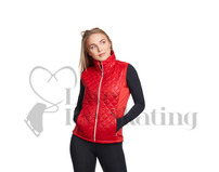 Jiv Fortis Ice Skating Gilet Red