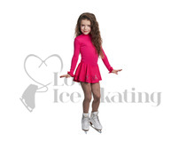 JIV Girls Pink Thermal Ice Skating Dress