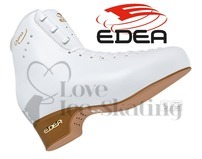 Edea Chorus Ladies White Figure Skates Boots