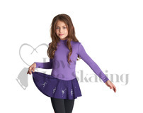 JIV Girls Purple Thermal Ice Skating Dress