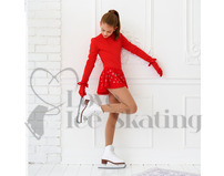 Red Childs Thermal Ice Skating Dress