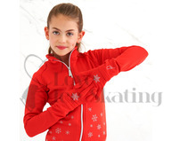Ice Skating Red Snowflake Gloves