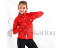 Ice Skating Red Jacket w Snowflakes