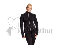 Ice Skating Black Jacket w Snowflakes