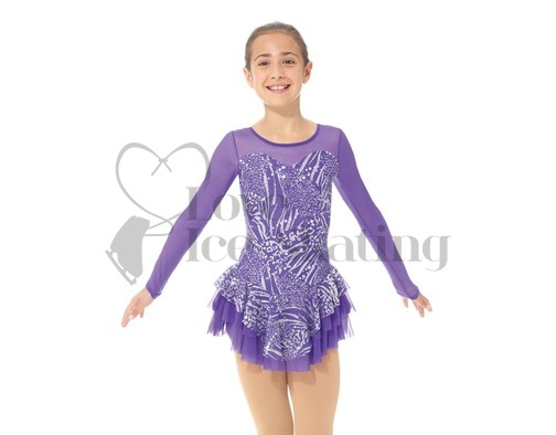 Mondor 668 Violet & Metallic Silver skating Dress