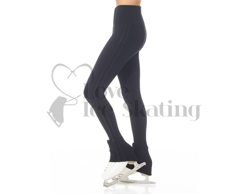 Mondor Supplex® Black with Stripe Ice Skating Leggings