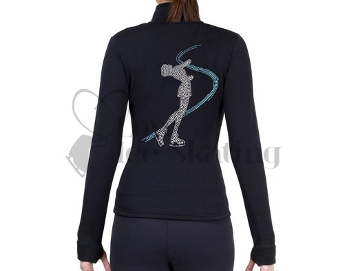 Figure Skating Polartec Fleece Jacket Rhinestone Girl Skater