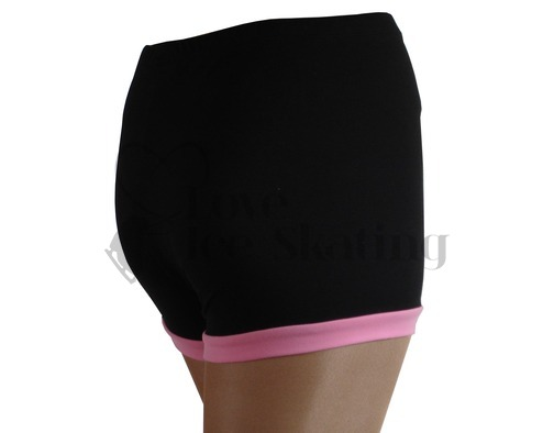 Ice Figure skating Shorts with Pink with Pink cuff