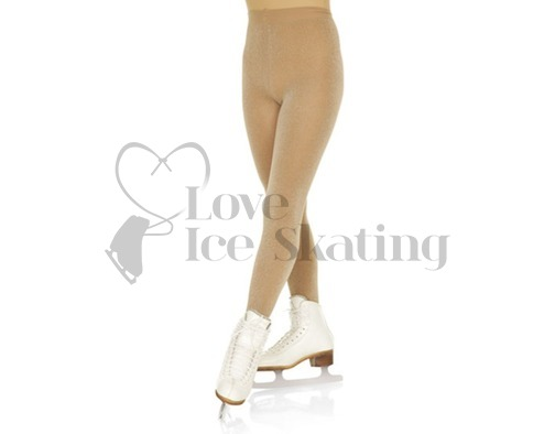 Mondor 3331 Shimmer Lurex Footed Ice Skating Tights