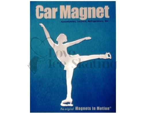 Spiral Female Figure Skating Magnet