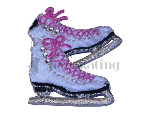 Iron on Sparkly Embroidered Patch Ice Skates