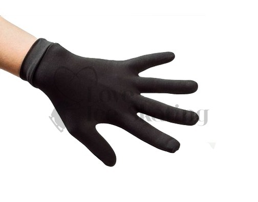 Ice Figure Skating Lycra Gloves Black