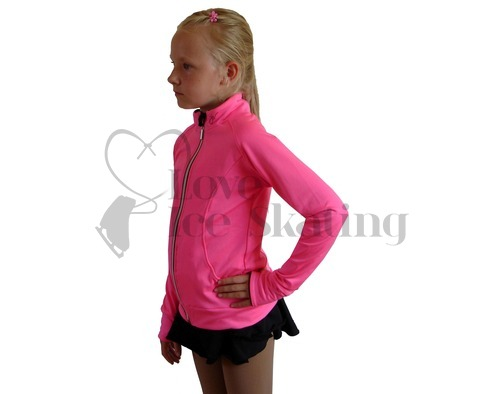JIV  Ladies Figure Ice Skating Training Jacket Hot Pink