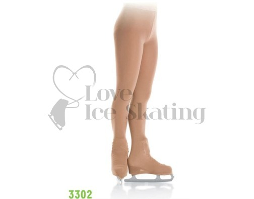 Mondor 3302 Over the Boot Ice Skating Tights Bamboo Light Tan