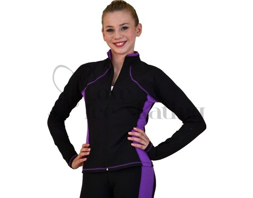 Ice Skating Jacket JS08 Supplex Purple by Chloe Noel