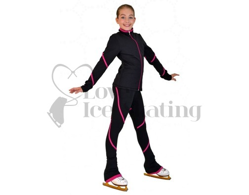 Figure Skating Jacket by Chloe Noel Fuchsia with Swarovski Crystals