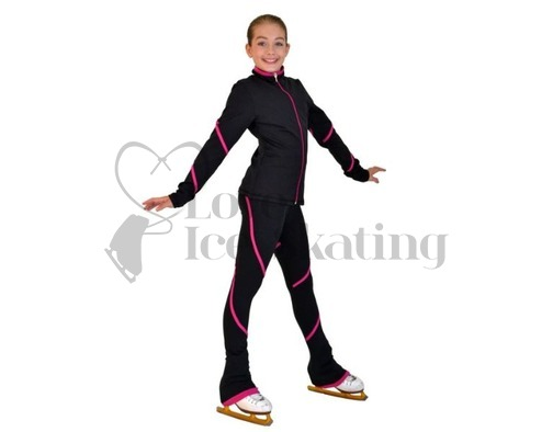 Figure Skating Leggings by Chloe Noel Fuchsia Swirl with Swarovski Crystals