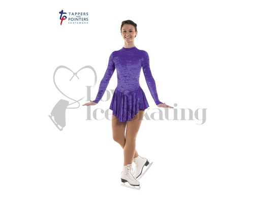Ice Skating Dress Velvet Purple by Tappers and Pointers