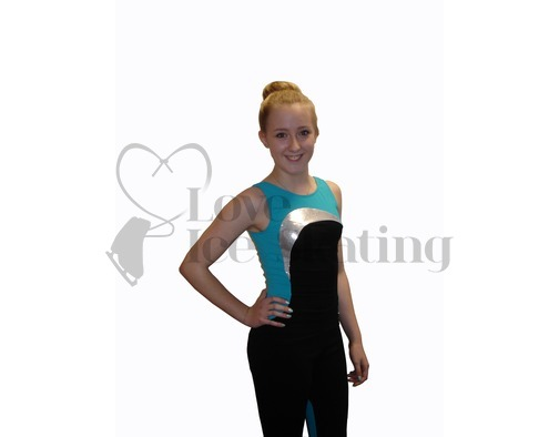 Mondor Camisole Figure Skating Training Top 4823 S1 Aqua
