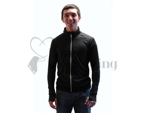 JIV Men's Figure Skating Training Jacket Black