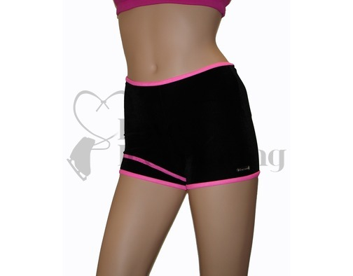 Mondor Ice Skating Shorts 2815 65 Hot Pink and Black Adult LARGE