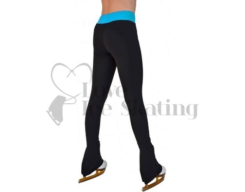 Chloe Noel PS35 Black Ice Skating Leggings with Turquoise Band