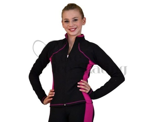 Figure Skating Jacket JS08 Supplex Fuchsia by Chloe Noel