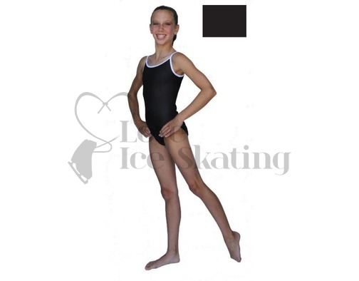Chloe Noel Leotard GL317 Black with Contrast Straps in Black