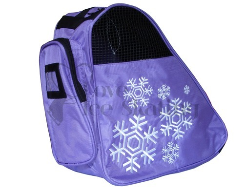 Snowflake Design Deluxe Purple Ice Skate Bag