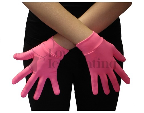 JIV Figure Ice Skating Hot Pink Gloves