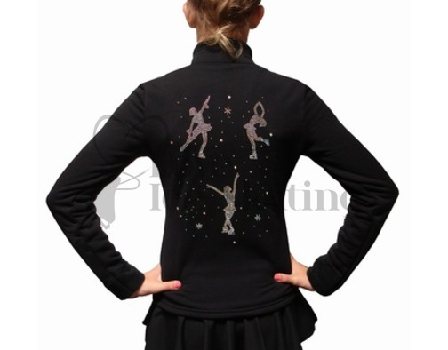 Chloe Noel Ice Skating Jacket & Leggings with Crystal Figure Skaters