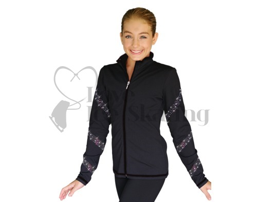 Chloe Noel JS96 Figure Skating Jacket with AB Crystal Spiral