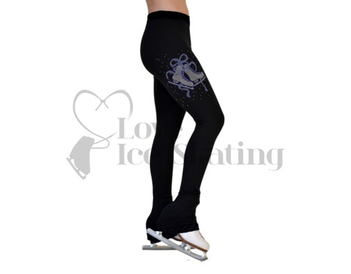 Ice Skating Leggings with Crystal Skates