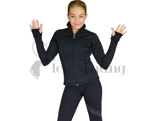 Chloe Noel JT92 Black Ice Skating Jacket with Pockets & Thumb Holes