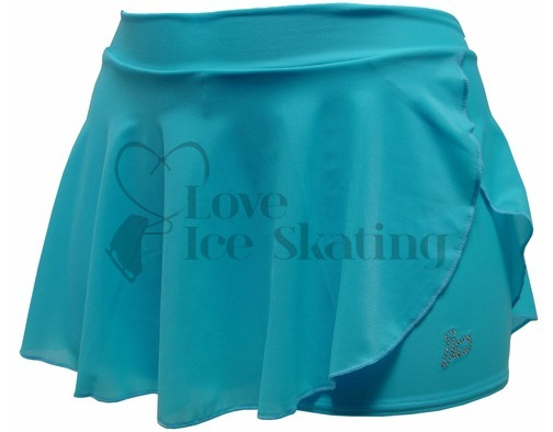 Intermezzo Blue Ice Figure Skating shorts with skirt Skort