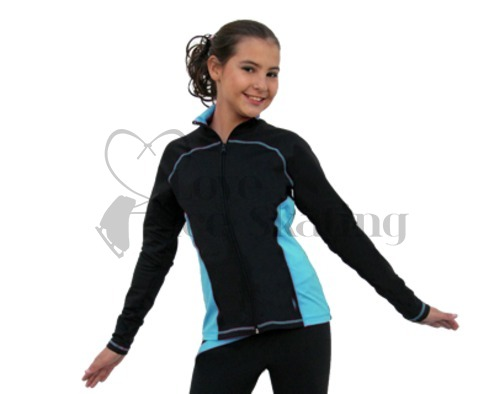 Chloe Noel J06 Princess Seam Ice Skating Jacket Turquoise