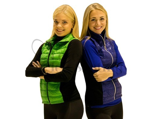 Jiv Green Figure Ice Skating Training Gillet / Body Warmer