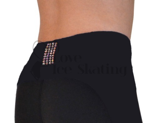 Chloe Noel PS35 Black Ice Skating Leggings w Swarovski Crystals
