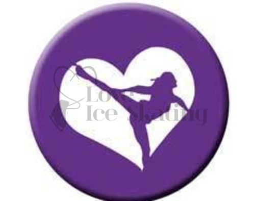 Figure Skating Spiral Purple Heart badge