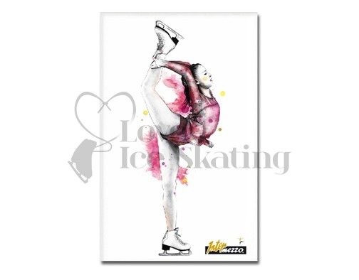Intermezzo 7670 Ice Skating Biellmann Fridge Magnet