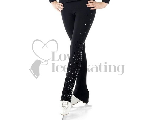 Sagester 405 Ice Skating Leggings with Swarovski Crystals on One Leg