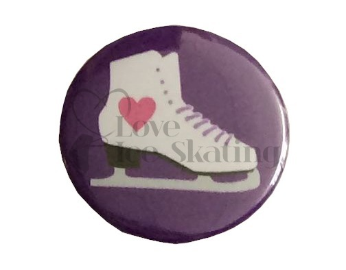 Heart Skate on Purple badge