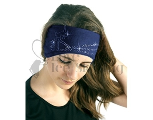 Sagester Royal Blue Figure Skating Layback Headband in Swarovski Crystals