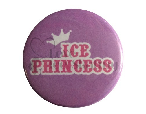 Ice Princess badge Purple and Pink